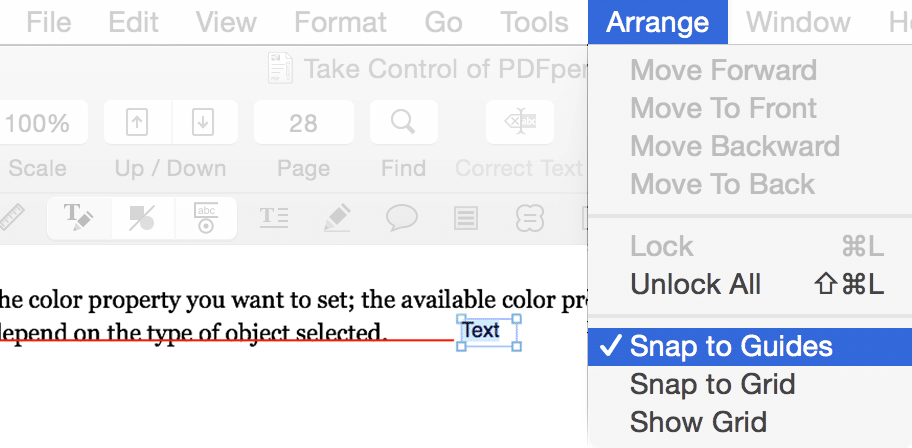 Snap Objects into Alignment in a PDF with PDFpen 8 1 - Smile