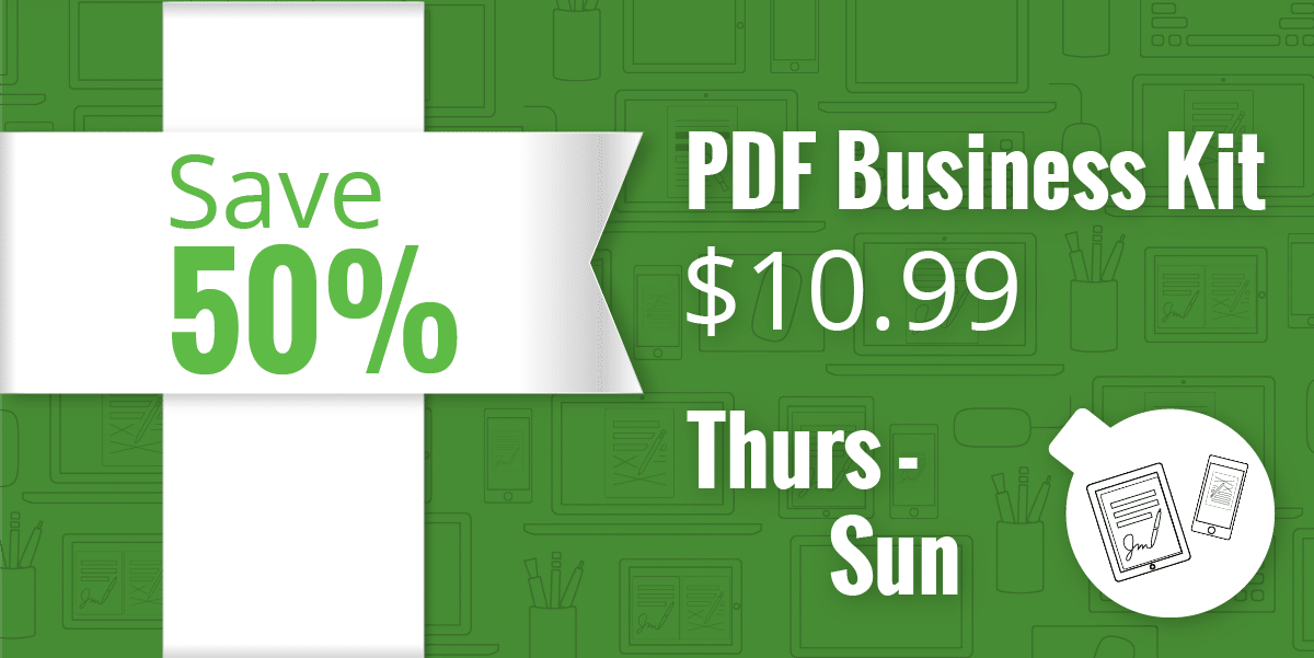 PDF Business Kit 50% off