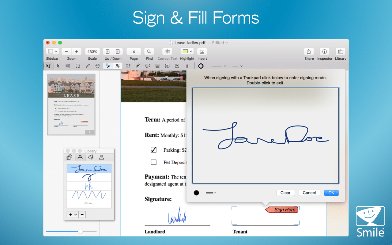 sign forms
