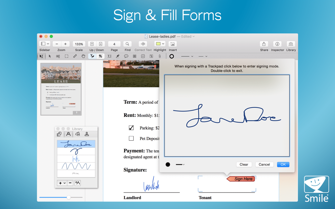 PDFpen 10.1 Improves Filling Forms, Link Visibility, AppleScript Image