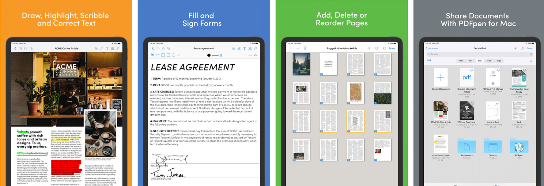 PDFpen for iPad & iPhone