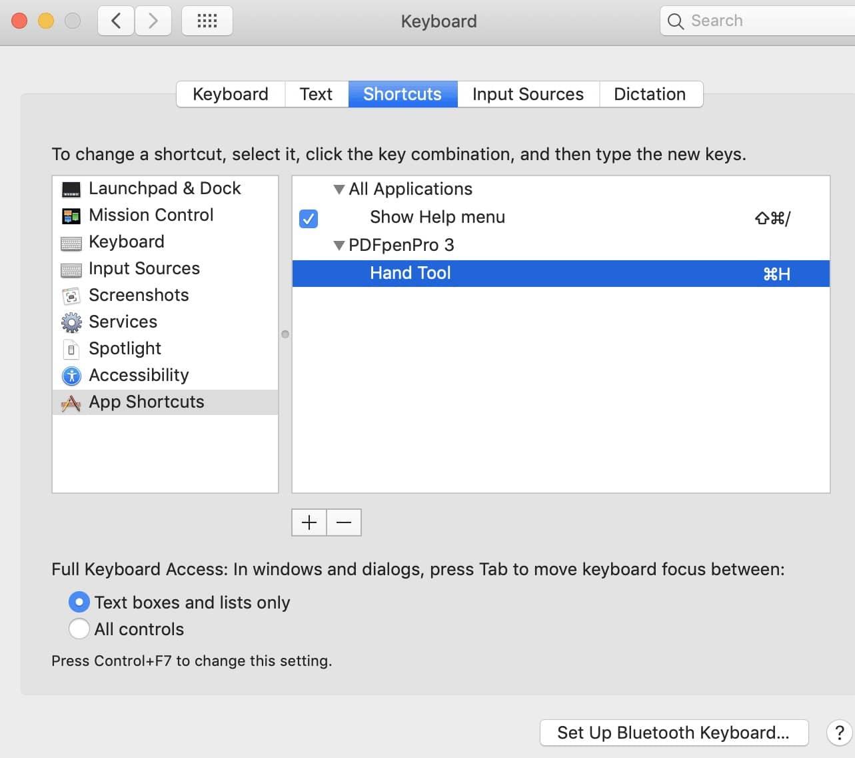 Screenshot of Step 5 for creating custom keyboard shortcuts.