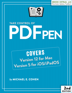 Take Control of PDFpen, written by Michael E. Cohen, is one of the PDFpen help resources available to users.